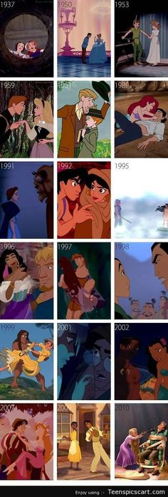 Disney Couples' Over The Years