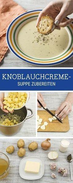 #Rezept: Herzhafte #Suppe mit #Knoblauch kochen / recipe: savory garlic #soup for the fall season via DaWanda.com
