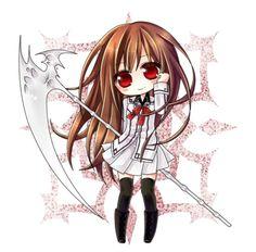 Chibi Yuki Cross (黒主 優姫, Kurosu Yuuki) from Vampire knight by Matsuri Hino.
