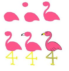 flamingo cookies and palm tree cookies -- how to draw on cookies how to draw on food: palm trees and flamingos (Florida or bust) How To Draw Flamingo, Flamingo Craft, Flamingo Nails, Flamingo Painting, Pink Flamingos, Flamingo Party, Flamingo Face Paint, Flamingo Decor, Tole Painting