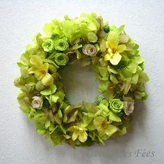 Chant de l'ange -Preserved Flower Wreath
