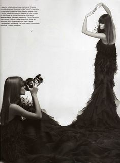 <p>Oldies but Goodies ! ' Autoportraits, la couture ' editorial by the Kaiser, with the beautiful Freja Beha Erichsen 'shooting herself ' for Numero Magazine #81 (March 09)</p>