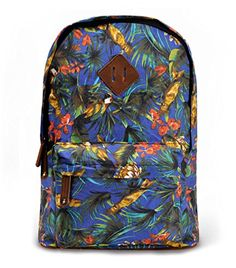 Women's Birds Forest Jungle Floral Print Travel Rucksack Canvas School Backpack (Blue) ZLYC http://www.amazon.co.uk/dp/B00MO9OFVA/ref=cm_sw_r_pi_dp_Mni7tb0SQ2D83