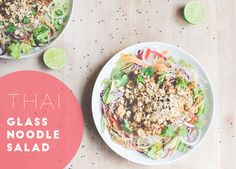 Thai Glass Noodle Salad with Lime, Peanuts and Coriander | by www.juyogi.com