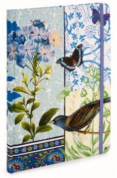 Bluebird and Butterflies Lined Journal (7x9)
