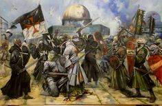 Muslim Chivalry and Templars « The Knights Templar – Order of the ... www.knightstemplarorder.org1913 × 1250Search by image 'Jerusalem' (2014), allegorical oil painting of Templars & Saracens on Temple. ' Visit page 	 View image