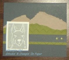 Undefined Carving Kit  Llama stamp It goes along with the Llama story from the Stampin' Addicts website