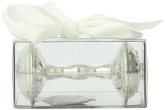 Mud Pie Baby Classic Keepsakes Silver-Plate Rattle, Cross Product Features Give more than a gift, give a keepsake with this silverplate rattle with embossed cross and beading detailRattle arrives in an acetate gift box with