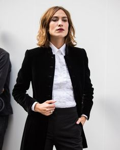 Alexa Chung attends the Brioni show during Paris Haute Couture Fashion Week Fall, July 4, 2016