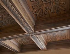Box beamed hand-painted ceiling by Evans and Brown.