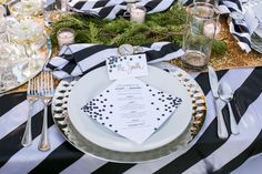 New Years Wedding - Place Setting - Styling by Fete & Frivolity Events