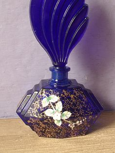 Vintage hand painted perfume bottle