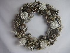 Google Image Result for http://image.made-in-china.com/2f0j00cjsECYUdERkF/Dried-Flowers-Xmas-Wreath-with-Pine-Cone.jpg