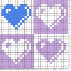 C2c Crochet Blanket, Graph Crochet, Tapestry Crochet, Crochet Blanket Patterns, Crochet Baby, Knitting Patterns, Cross Stitch Heart, Cross Stitch Alphabet, Cross Stitch Patterns