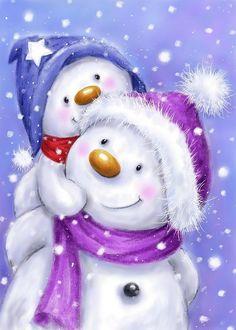 Christmas Scenes, Christmas Snowman, Christmas And New Year, Christmas Time, Vintage Christmas, Christmas Crafts, Merry Christmas, Christmas Decorations, Christmas Ornaments