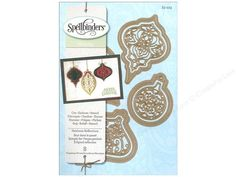 Spellbinders Dies are patented metal dies that offer triple function; they cut the shapes, emboss details, and let the user stencil through the die! Can be used with Spellbinder machines, or any die cut system for beautiful results. Shapeabilities Heirloom Reflections- Dies include; 4 silhouettes of different basic ornament shapes and 4 are ornate insert patterns shapes. Ornament shapes include; round, teardrop, spire, and kismet while matching insert patterns are composed of scroll and ...