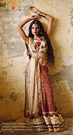 Bohemian Rani Festive Collection 2013 by Sapana Amin #saree #indian wedding #fashion #style #bride #bridal party #brides maids #gorgeous #sexy #vibrant #elegant #blouse #choli #jewelry #bangles #lehenga #desi style #shaadi #designer #outfit #inspired #beautiful #must-have's #india #bollywood #south asain