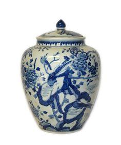 Blue & White Chinoiserie Jar