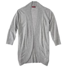 Merona® Women's Ultrasoft Cocoon Cardigan - I own this in grey and off-white, and like both. I like the grey because it matches with everything, and I can wear it to a night out with friends, and to work. You can layer it fairly easily with long-sleeved shirts underneath, or sleeveless tops if you just want something to warm you up slightly. I like pairing it with skinny jeans.