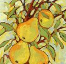 Four Pears...  Original: sold  Acrylic 14 x 11  Reproduction: $125.00      20 x 16