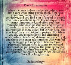 Venus in Aquarius ... #Zodiac #Astrology For related posts, please check out my FB page:  https://www.facebook.com/TheZodiacZone
