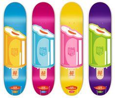 Ice cream skateboards