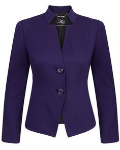 Envy Structured Neckline Stretch Ponti Jacket - Anthea Crawford | Australia