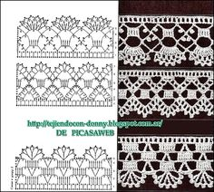 PATRONES   -  CROCHET  -  GANCHILLO  -  GRAFICOS: Beautiful collection on tiptoe to crocheting