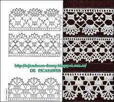 PATRONES   -  CROCHET  -  GANCHILLO  -  GRAFICOS: Beautiful collection on tiptoe to crocheting