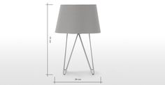 Collins Table Lamp, Cool Grey | made.com