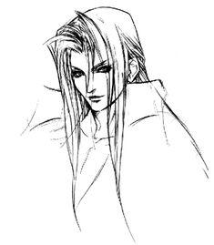 Sephiroth Sketch - Final Fantasy VII: Advent Children | Tetsuya Nomura