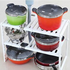 White Multifunction Creative Space Pan Pot Rack Stainless Steel Sink Rack Shelf Retractable Double Layer Bathroom Storage Rack