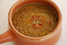 Lentils cretan recipe, Mediterranean Diet, The Cretan Diet, Greek Recipes, Soup Recipes, Healthy Recipes, Cyprus Food, Good Food, Yummy Food, Lentils, Vegetarian, Kitchens