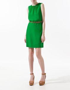 Green Department of belt dress