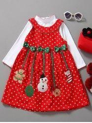 #Gamiss - #Gamiss Long Sleeve Top and Christmas Dress 2 PCS - AdoreWe.com