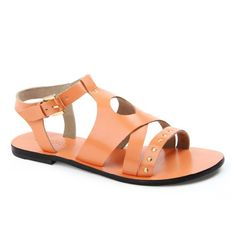 Carla in Orange Leather Sandals, Journey, Orange, Shoes, Women, Fashion, Moda, Zapatos, Shoes Outlet