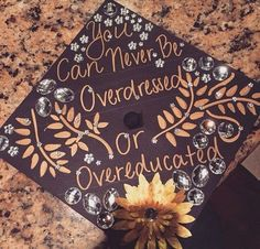 Graduation Cap with Patterns and Gems. 30+ Awesome Graduation Cap Decoration Ideas.