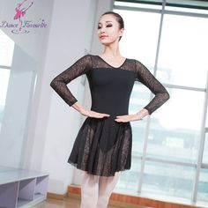 Find More Ballet Information about Free Shipping Long Sleeve Lace Ballet Dress with V Neck Design Adult Ballerina Dance Skirted Leotards Women Dance Leotard #0066,High Quality dress jasmine,China dress frock Suppliers, Cheap dress cutout from Love to dance on Aliexpress.com