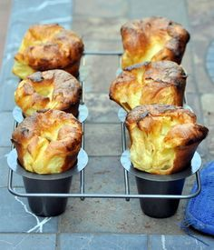 Jamie Oliver's Huge Yorkshire Puddings ~ made these recently (iftar roast dinner) - the kiddos & I LOVED them, and yup, we were awestruck by the HUMONGOUS rising (like The Blob!) whilst they were baking hehheh. Just like Nicole's photos. And did we say mmm ... <3 <3 <3. The butter certainly was key. Thanks Nic, for your input. Pure Jaime awesomeness recipe