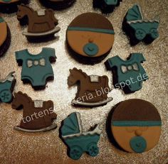 baby boy cookies with fondant step by step