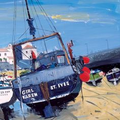 'Low, Tide,St Ives'. Large Lithogrphic Print by Hamish MacDonald, Scottish Artist