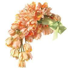 cascade tulip bouquet