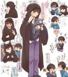 Osomatsu San Doujinshi, Cat Aesthetic, Ichimatsu, Cool Kids, Brother, Geek Stuff, Manga, Comics, Drawings