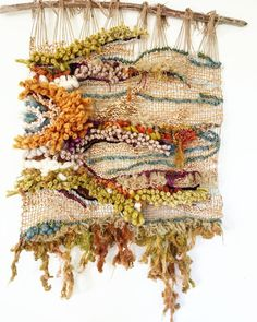 oving this so much. and really enjoyed te creative process of seeing it grow slowly and sideways 🧡 Can anyone help me name it? Weaving Textiles, Weaving Art, Weaving Patterns, Loom Weaving, Tapestry Weaving, Wall Tapestry, Weaving Wall Hanging, Wall Hangings, Textile Fiber Art