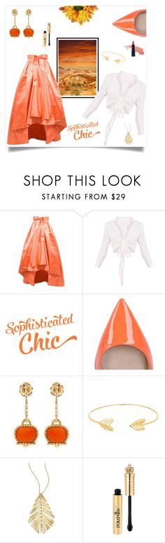 """""""Dress me up in a Coral colored skirt!"""" by freida-adams ❤ liked on Polyvore featuring Christian Dior, ULTA, Carvela, Chantecler, Lord & Taylor, Hueb, topsets, polyvorecommunity, topset and polyvorefashion"""