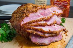 Bourbon Gingersnap Crusted Ham