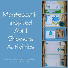 Montessori-Inspired April Showers Activities by Deb Chitwood