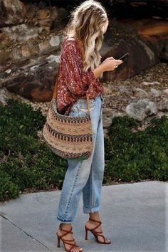 boho-stil do ver o ao inverno stehlen sie den look Boho Outfits, Street Style Outfits, Indie Outfits, Grunge Outfits, Casual Outfits, Summer Outfits Boho Chic, Easy Outfits, Cute Fall Outfits, Comfortable Outfits