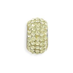 Yellow Pave Crystal Bead