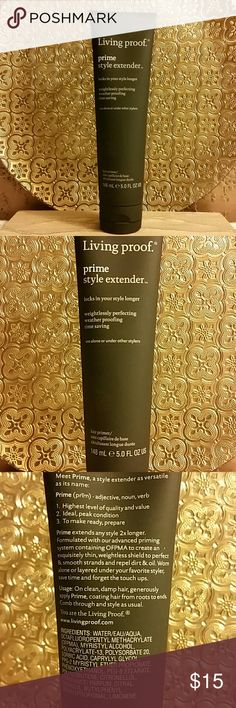 Living Proof prime style extender Locks in your style longer. This is the stuff Jennifer Aniston uses on her hair! 5 fl oz.. used a few times only Living Proof Other